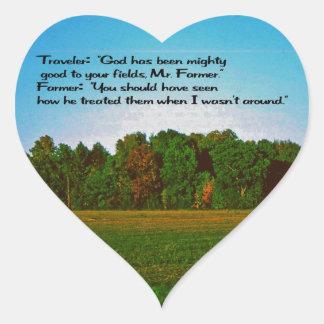 El granjero calcomania corazon personalizadas