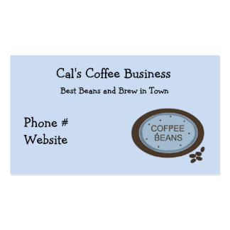 El grano de café firma adentro el azul y a Brown Plantillas De Tarjetas De Visita