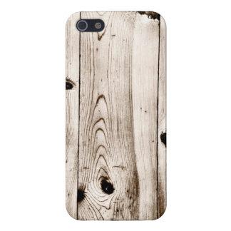 El grano de madera rústico sube al caso del iPhone iPhone 5 Funda
