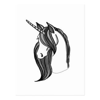 El Grayscale el unicornio el | elige su color Tarjeta Postal