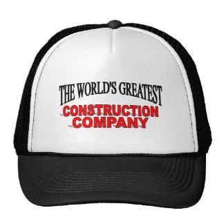 El Greatest la Construction Company del World's Gorros Bordados