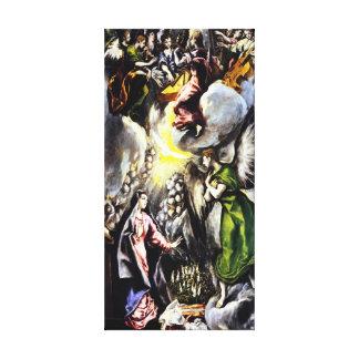 El Greco Annunciation Virgin Mary Canvas Wrap
