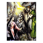 catholic painting, annunciation, el greco, angel