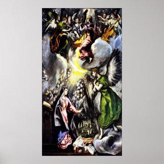 El Greco Annunciation Virgin Mary Poster