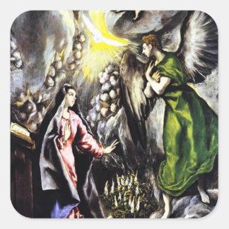 El Greco Annunciation Virgin Mary Stickers