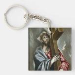 El Greco Art Single-Sided Square Acrylic Keychain
