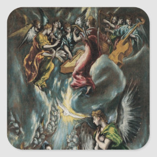 El Greco Art Square Sticker