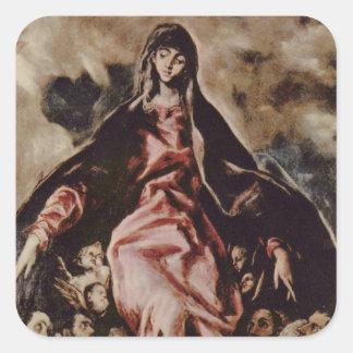 El Greco Art Square Stickers