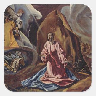 El Greco Art Square Sticker