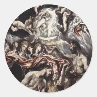 El Greco- Baptism of Christ Stickers