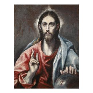 El Greco - bendición de Cristo Membrete A Diseño