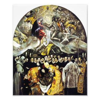 El Greco Burial of the Count of Orgaz Print