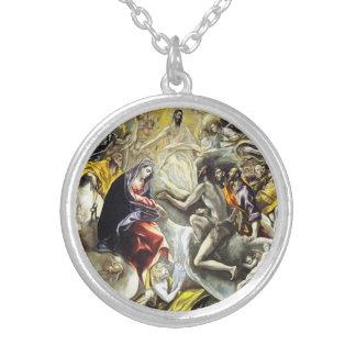 El Greco Burial of the Count of Orgaz Round Pendant Necklace