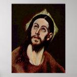 El Greco - cabeza de Cristo Impresiones