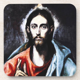 El Greco Christ Blessing Coasters