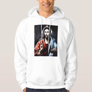 El Greco Christ Blessing Hoodie