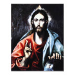 "El Greco Christ Blessing Invitations 4.25"" X 5.5"" Invitation Card"