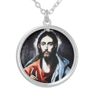 El Greco Christ Blessing Necklace