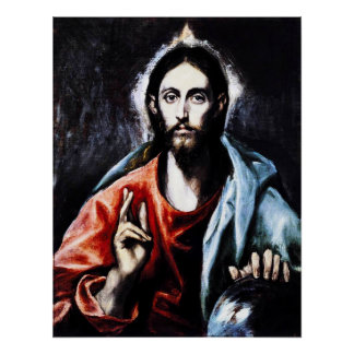 El Greco Christ Blessing Poster
