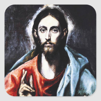 El Greco Christ Blessing Stickers