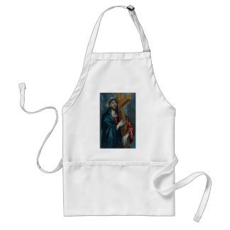 El Greco - Christ Carrying the Cross Adult Apron