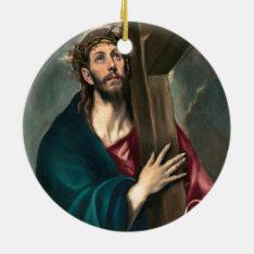 El Greco Christ Carrying The Cross Ceramic Ornament at Zazzle