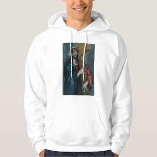 El Greco - Christ Carrying the Cross Hooded Pullover