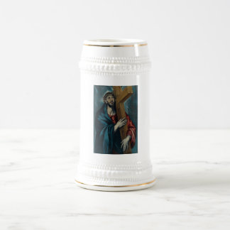 El Greco - Christ Carrying the Cross 18 Oz Beer Stein