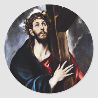 El Greco Christ Carrying The Cross Stickers