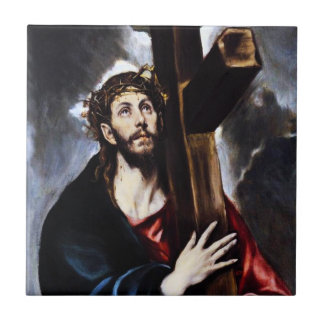 El Greco Christ Carrying The Cross Tile