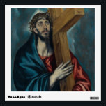 """El Greco - Christ Carrying the Cross Wall Sticker<br><div class=""""desc"""">This is a wonderful and really high quality painting of Christ by El Greco. Great Christian gifts on many unique products. High quality printing delivers great results.</div>"""