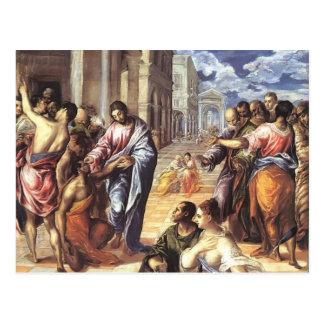 El Greco- Christ healing the blind Postcard