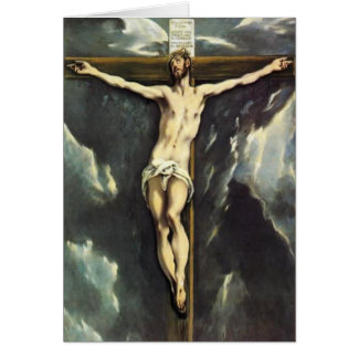 El Greco Christ On The Cross Greeting Card