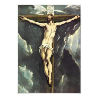 El Greco Christ On The Cross Invitations