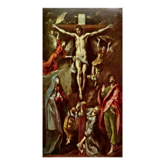 El Greco - Christ on the cross Poster