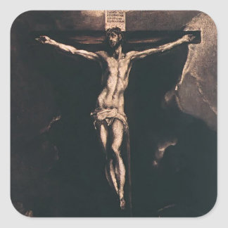 El Greco- Christ on the cross Sticker