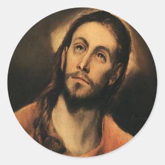 El Greco- Christ Round Sticker