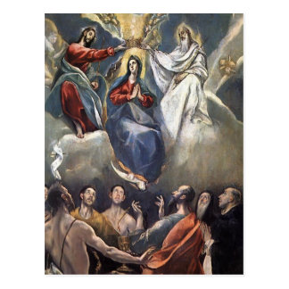 El Greco- Coronation of the Virgin Postcard