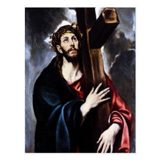 El Greco Cristo que lleva la cruz Postal