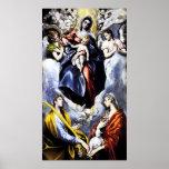 El Greco el poster de la Virgen y del niño