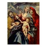 El Greco- Holy Family Post Card