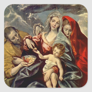 El Greco- Holy Family Square Stickers