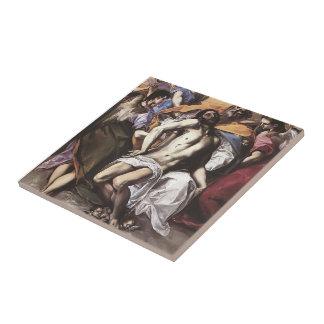 EL Greco- la trinidad santa Azulejos Ceramicos