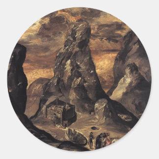 El Greco- Mount Sinai Round Sticker