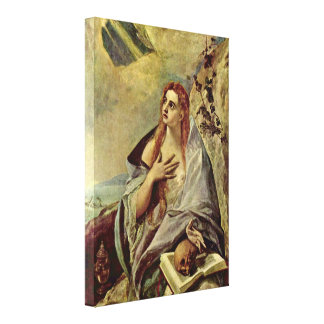El Greco - Penitent Mary Magdalene Canvas Print