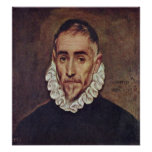 El Greco - Portrait of a gentleman Print