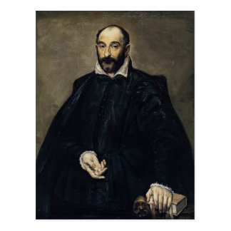 El Greco- Portrait of a man (Andrea Palladio) Postcard