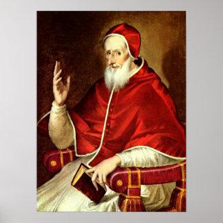 El Greco - Portrait of Pope Pius V Poster
