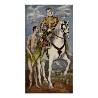 El Greco - Saint Martin and the Beggar Poster