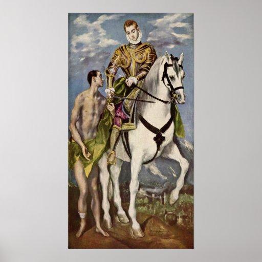 El Greco - Saint Martin and the Beggar Print